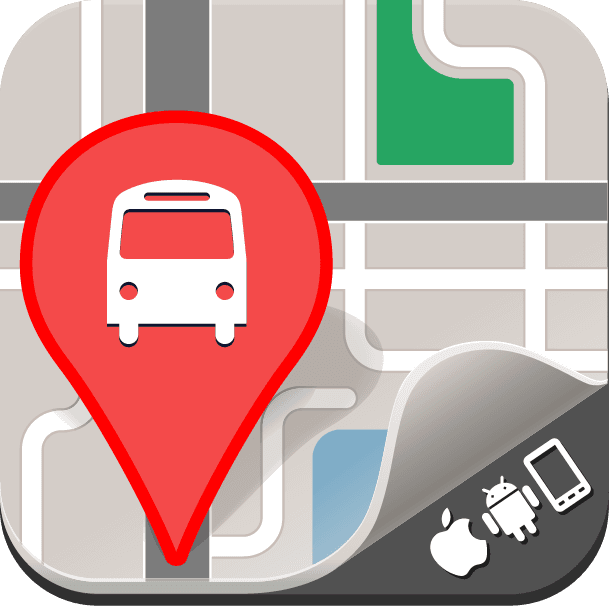 Bus pin on map