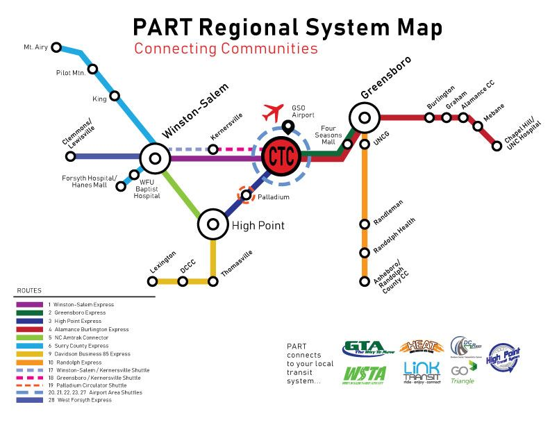 PART Express System Map