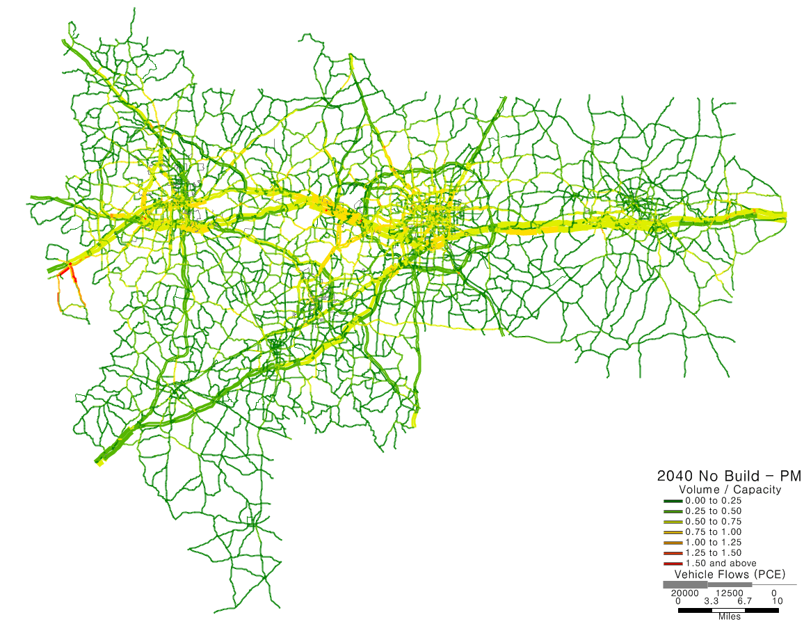 Highway map in green and yellow